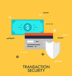 transaction security flat concept vector image