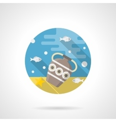 Under the sea color detailed icon vector image