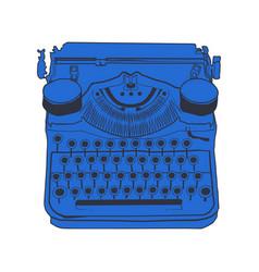 Vintage typewriters color vector