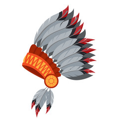 War bonnet feather headdress traditions of the vector