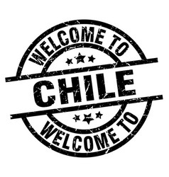 welcome to chile black stamp vector image vector image