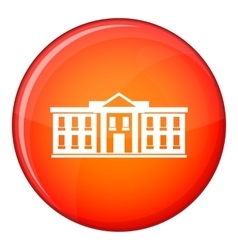 White house USA icon flat style vector