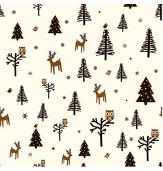 winter forest pattern vector image
