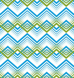 Zig zag geometric pattern retro style background vector image vector image