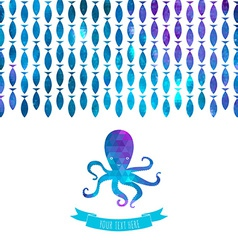 card with octopus vector image vector image