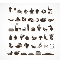 Food icons and elements vector image vector image