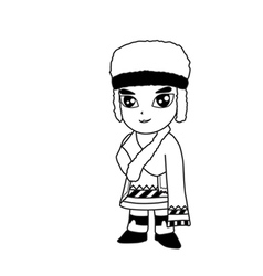 Man cartoon vector image vector image