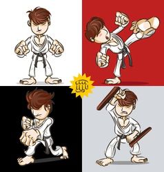 Martial art karate vector