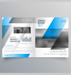 modern business bifold brochure template with vector image vector image