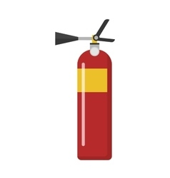 Red fire extinguisher isolated vector image vector image