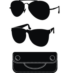 classical sunglasses vector image