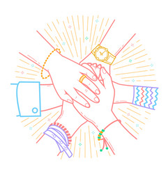 concept of friendship and support vector image vector image