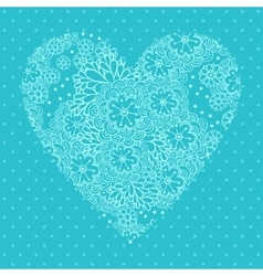 Floral heart Valentines day card vector image vector image