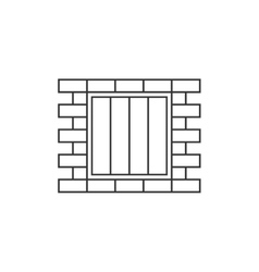 Jail window line icon vector image vector image