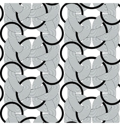 rond lines geometry seamless pattern vector image vector image