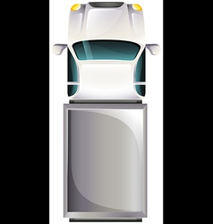 A topview of a grey vehicle vector image