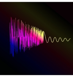 Bright sound wave on a dark blue background EPS vector image