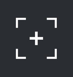 focus icon vector image vector image