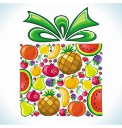 Fruity present vector image vector image