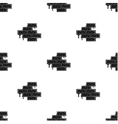 brick wall icon in black style isolated on white vector image