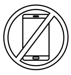 no phones icon vector image
