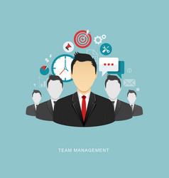 team management flat vector image