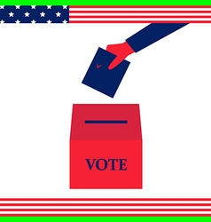 vote hand american vector image