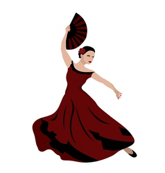 woman dancing flamenco vector image vector image
