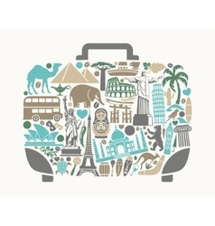 A symbol of tourism and travel vector image