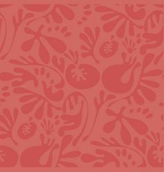 abstract fantasy coral color floral motif vector image