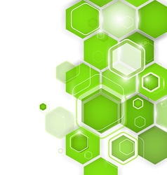 Abstract green background hexagon vector