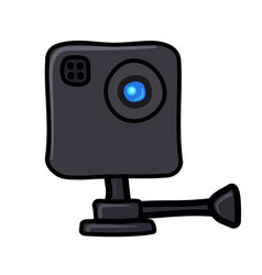 Action camera cartoon icon vector