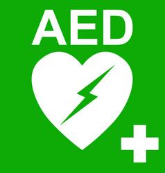 Aed automatic external defibrillator symbol heart vector