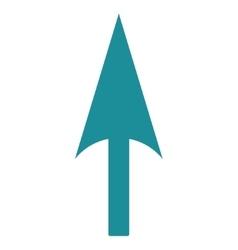 Arrow Axis Y flat soft blue color icon vector image
