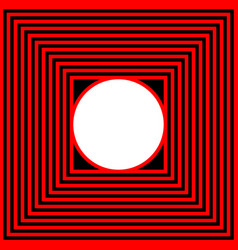 black red square and circle vector image