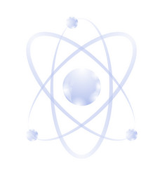 blue atom icon vector image