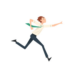businessman running to success business vector image