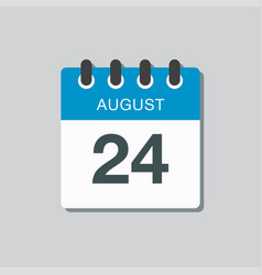 Calendar icon day 24 august date days year vector
