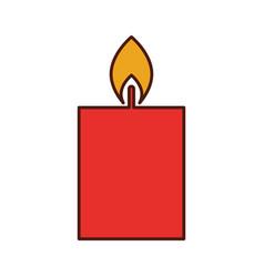 candle burning christmas decoration festive vector image