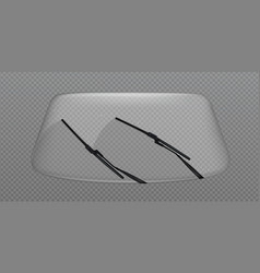 Car wiper clean windscreen windshield with drops vector