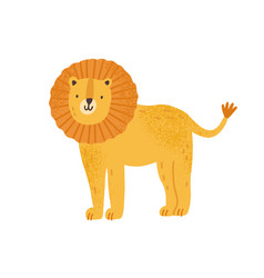 childish cute lion in simple scandinavian vector image