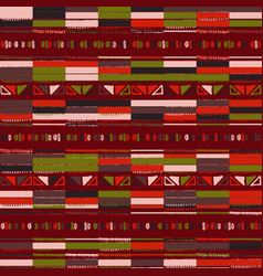 christmas seamless stripe pattern with nordic vector image