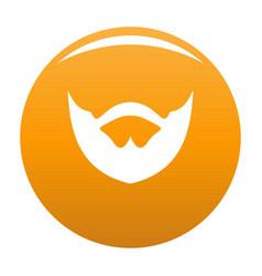 Clipped beard icon orange vector