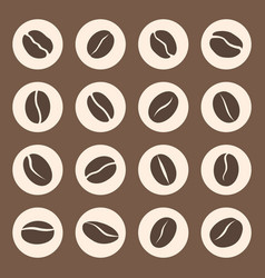coffee beans icon set in coffee signs vector image