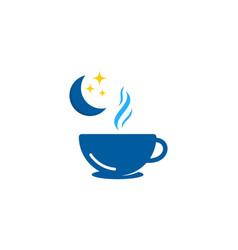 coffee sleep logo icon design vector image