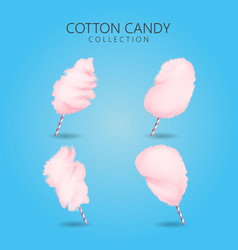 cotton candy cartoon sweet sugar food vector image