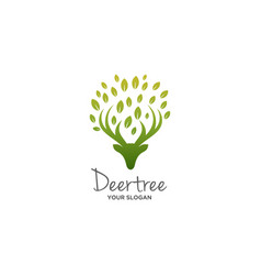 deer tree logo vector image