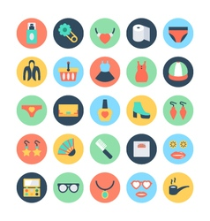 Fashion and Beauty Colored Icons 7 vector