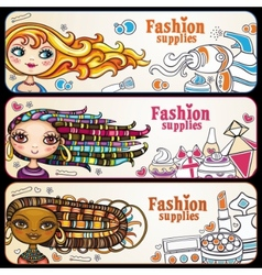 Fashion banners vector image