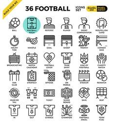 Football soccer icons vector